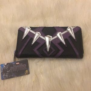 Loungefly Black Panther Zip Around Wallet NWT